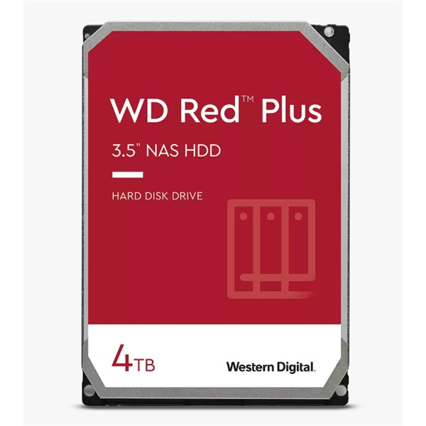 "Western Digital 3,5"" 4000GB belső SATAIII 5400RPM 128MB RED PLUS WD40EFZX winchester 3 év - 1"